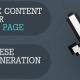 Optimize Content for your Landing Pages with these Lead Generation Tips