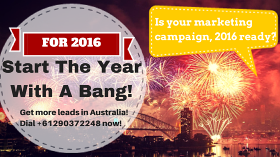 Start The Year With a Bang in Your Marketing Campaign in Australia!