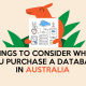Things to Consider when you purchase a database in Australia