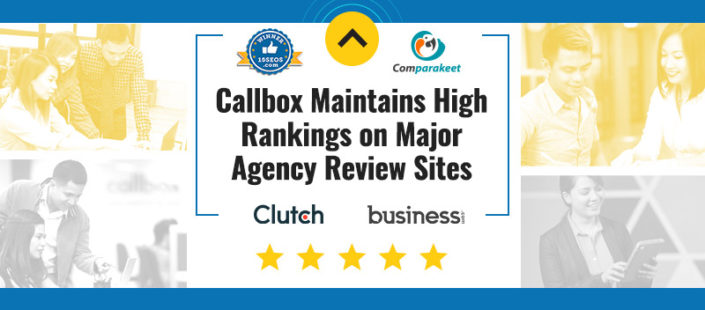 Callbox Maintains High Rankings on Major Agency Review Sites