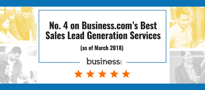 No. 4 on Business.com's Best Sales Lead Generation Services (as of March 2018)