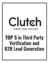 Clutch - Top 5 in Third Party Verification and B2B Lead Generation