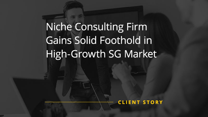 Niche Consulting Firm Gains Solid Foothold in High Growth SG Market (Case Study)