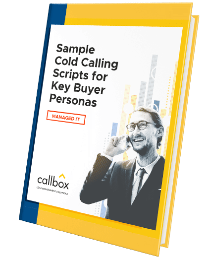 Sample Cold Calling Scripts for Key Buyer Personas in Managed IT (eBook cover)