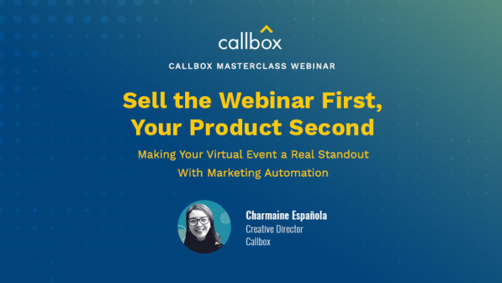 Callbox Masterclass - Making Your Virtual Event a Real Standout with Marketing Automation